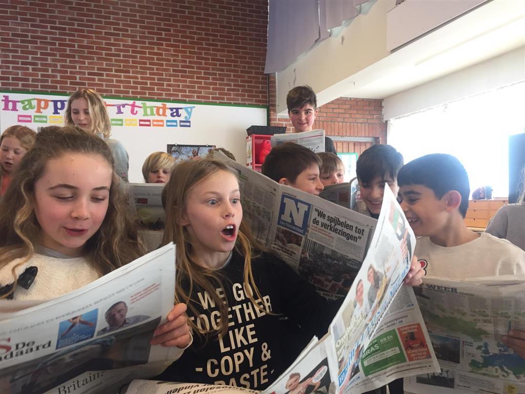 Kranten in het 5de leerjaar